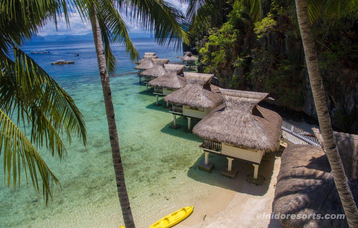 cabañas sobre el mar en Filipinas
