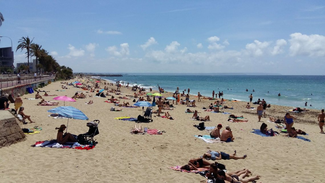 Playa en Palma de Mallorca ciudad