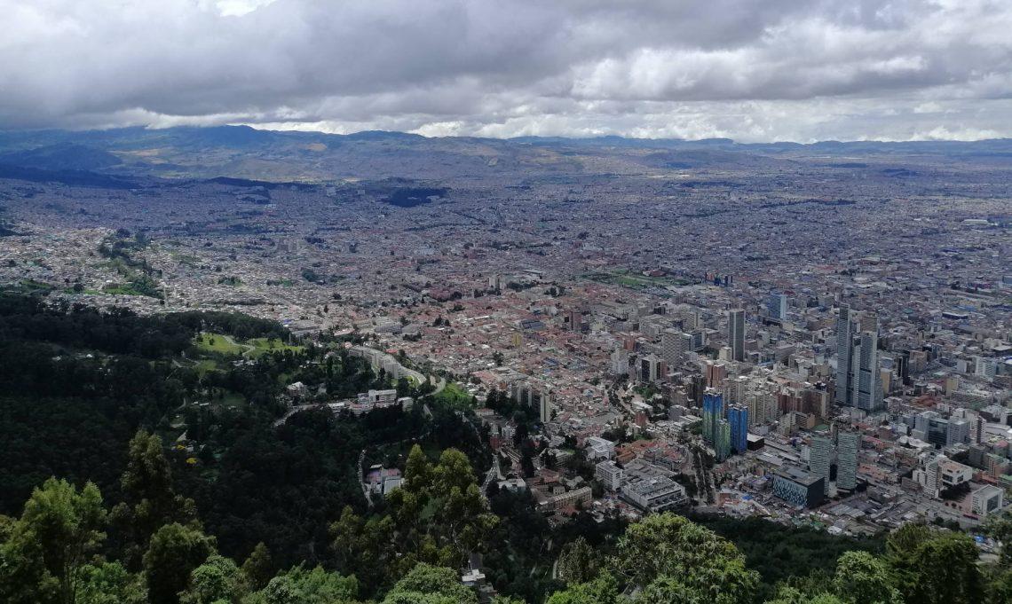 Vistas de Bogotá desde Monserrate