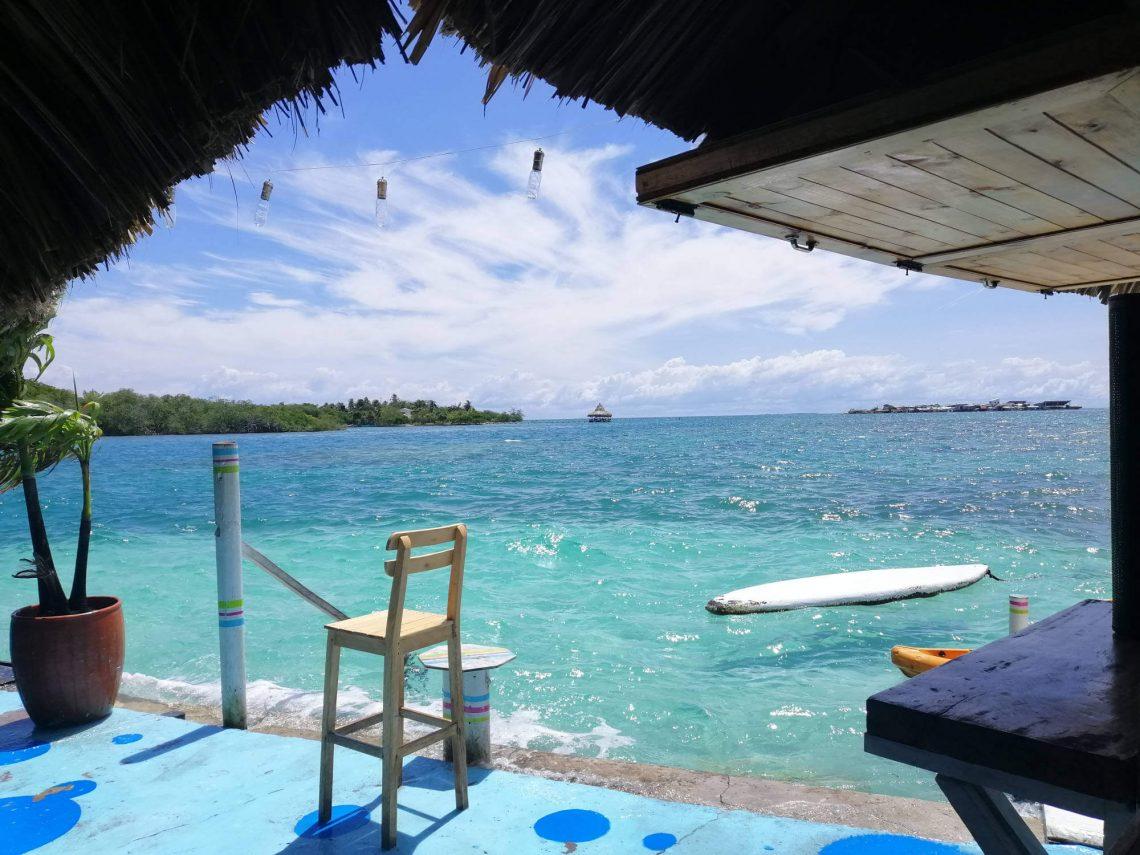 Vistas del Caribe desde el hostal