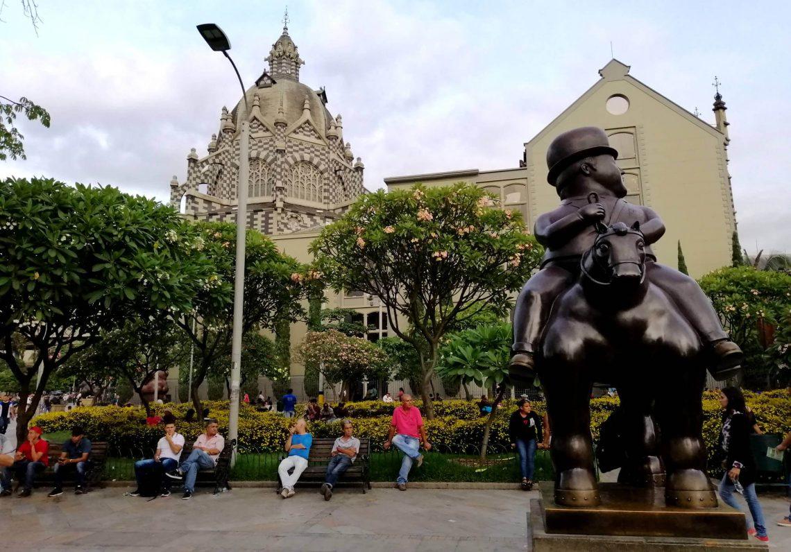 plaza botero en medellin colombia