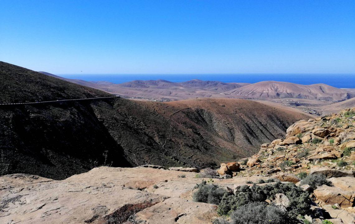 Vistas carretera Pájara Fuerteventura