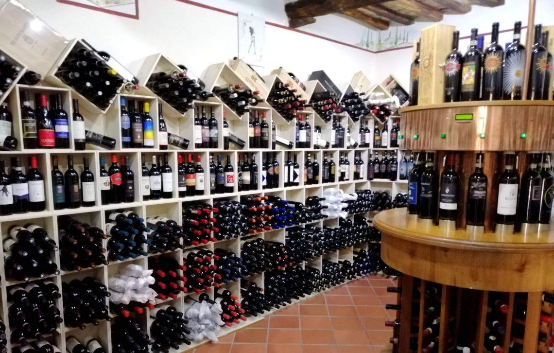 Tiendas de vino en Montalcino.