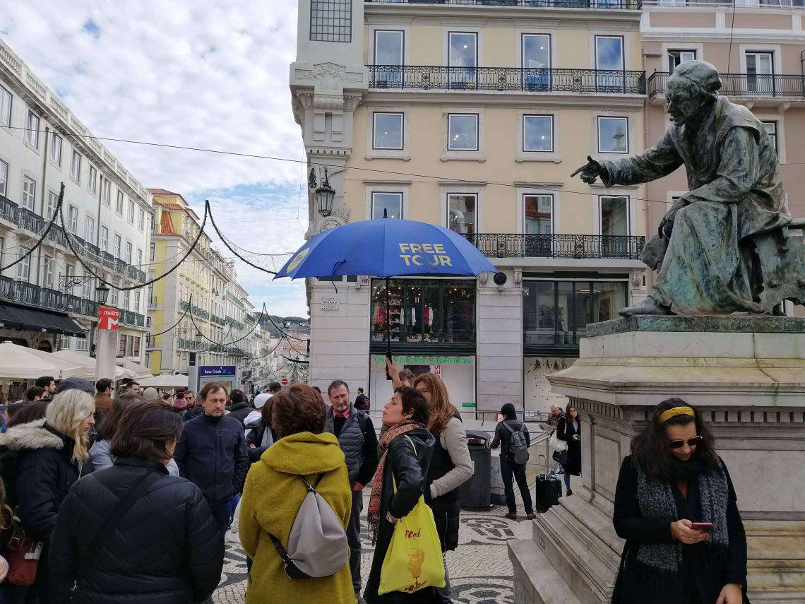 Inicio del free tour por Lisboa.