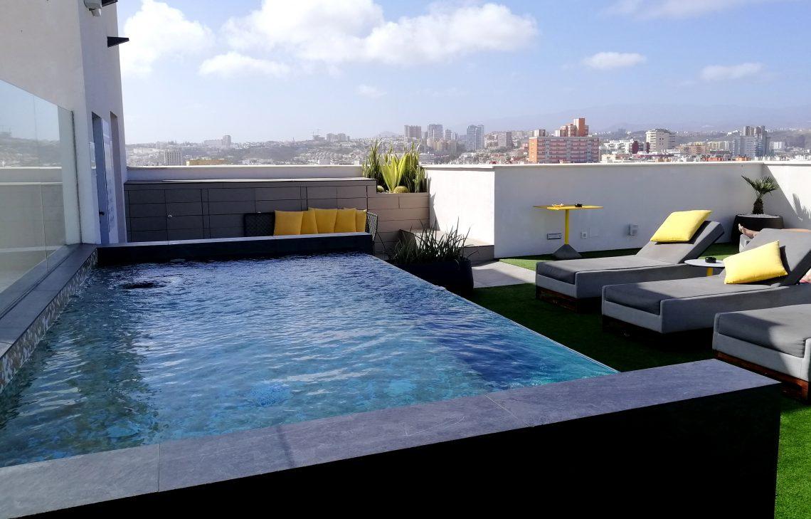 Azotea del hotel BEX, buen lugar para dormir en Las Palmas