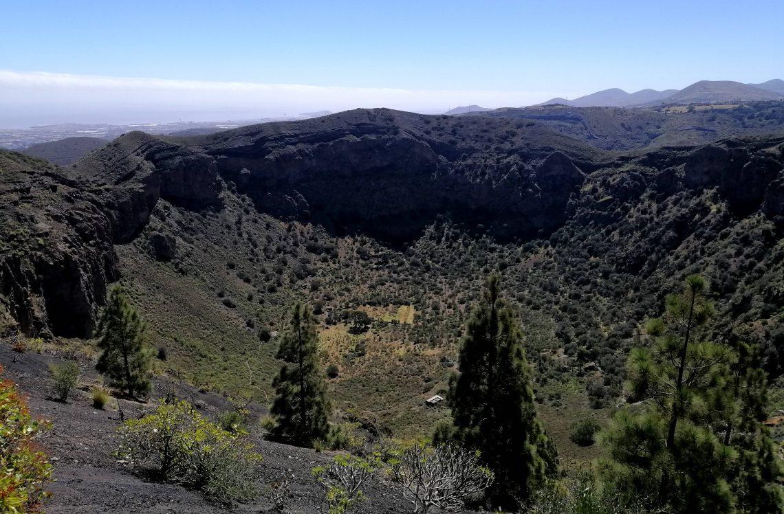 Caldera de Bandama, cerca de Las Palmas.