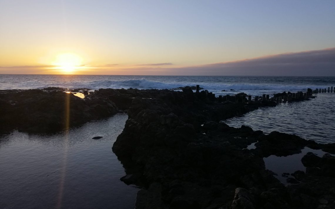 Atardecer en Las Salinas, playa Turman.