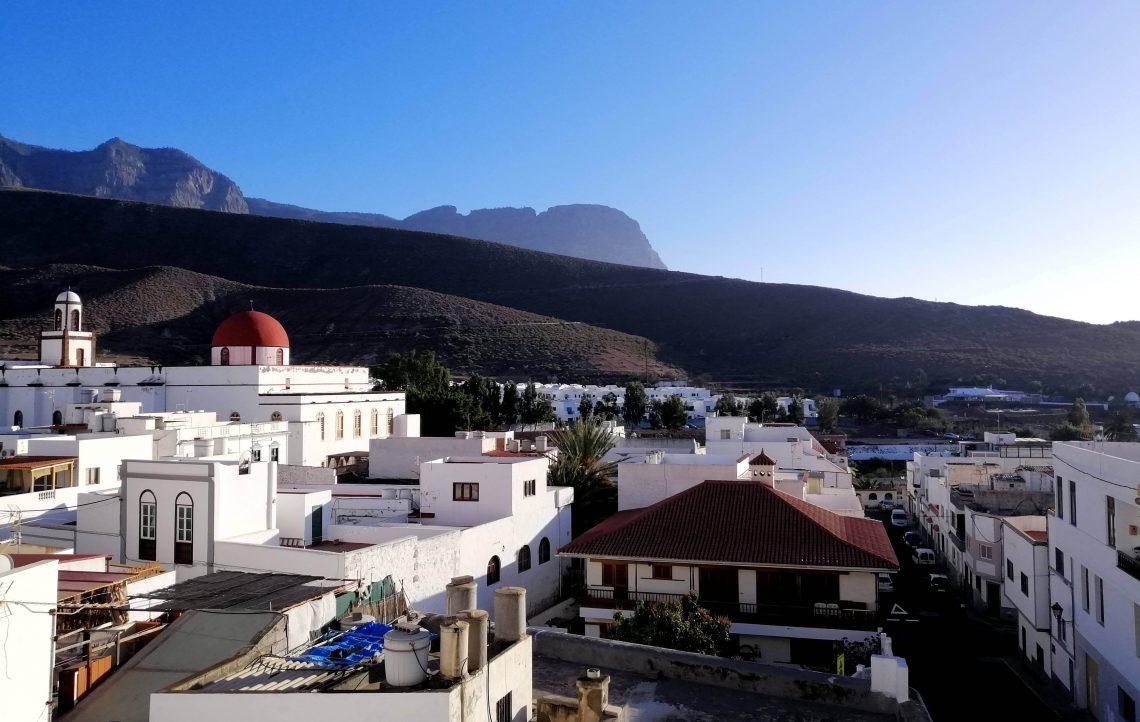 Panorámica del pueblo de Agaete en Gran Canaria