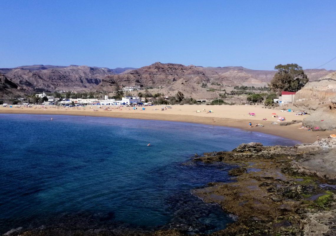 playa de Tauro al sur de Canarias