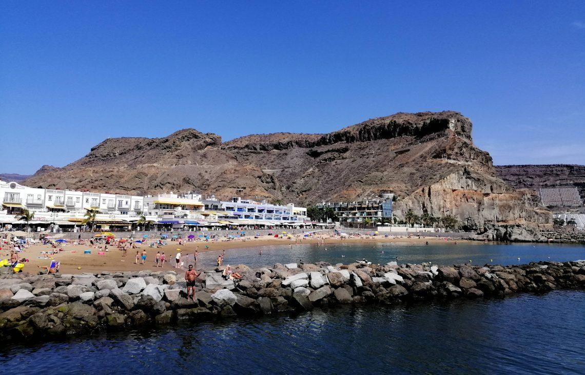 Playa de Puerto de Mogán, mejores playas de Gran Canaria con niños